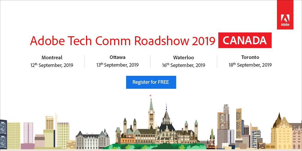Home - Adobe Tech Comm Roadshow 2019 | CANADA